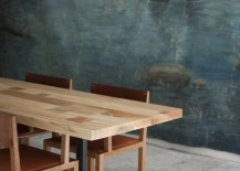 Modern trestle table from BDDW