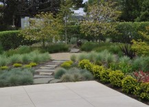 Modern yard with a gravel focal point