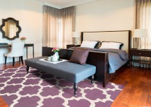 Moroccan Patterned Purple Rug