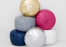 Moroccan Pouf in assorted colors