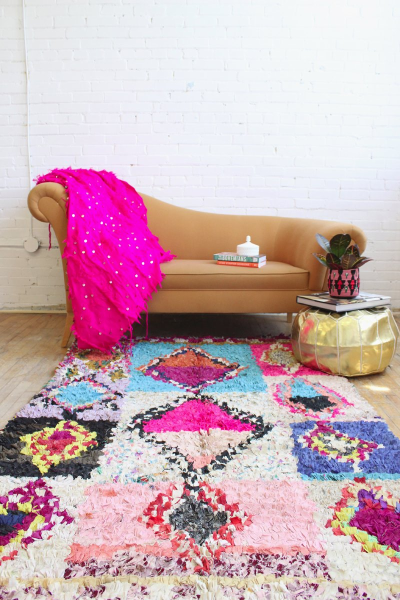 Neon Boho rug from Baba Souk