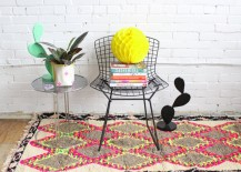 Neon argyle rug from Baba Souk