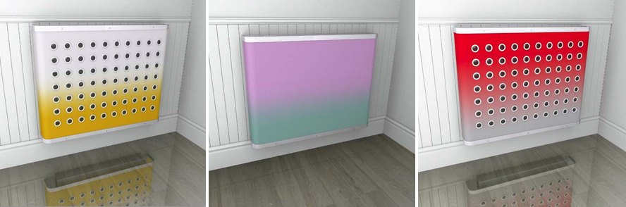 Ombre radiator covers from Couture Cases