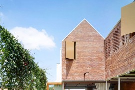 Christian Street House: Brick Walls and High Gables for This Modern Home