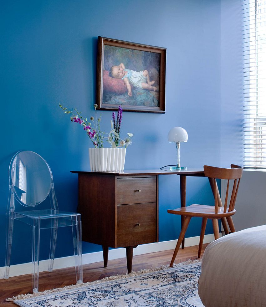 Original paintings bring beauty and class to the interior [Design: Kristen Rivoli Interior Design]