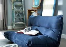 PB Teen Single Floor Lounger in Blue