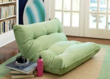 PB Teen Single Floor Lounger in Lime Green