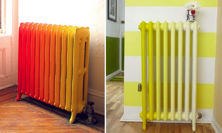 Painted ombre radiators