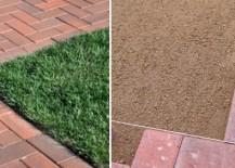 Patio built from paver bricks