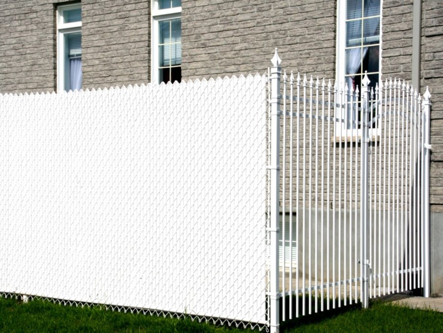 View In Gallery Privacy Slats For A Chain Link Fence