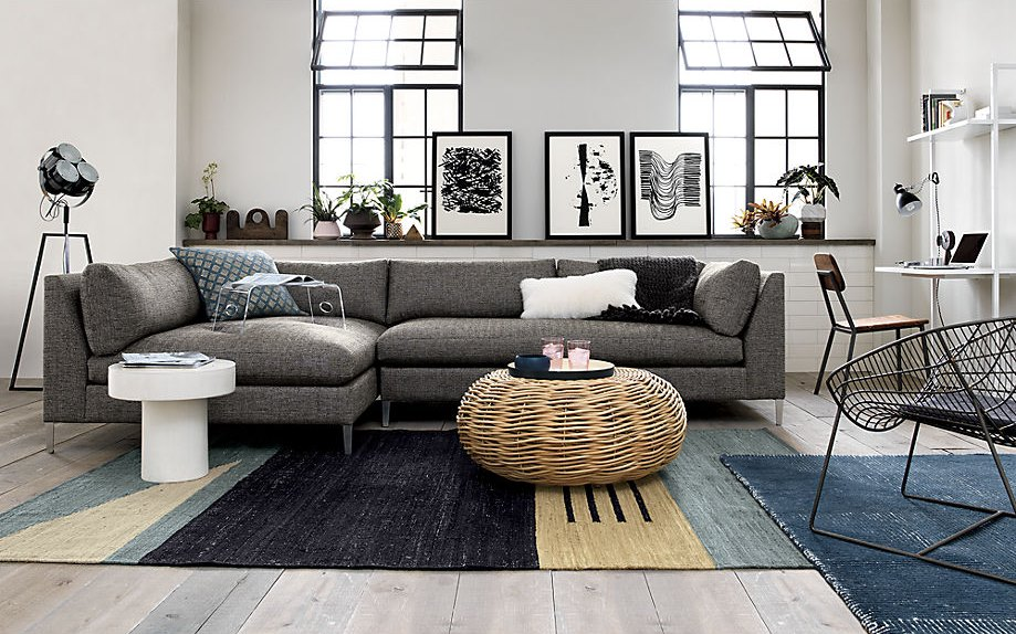 Rattan coffee table from CB2