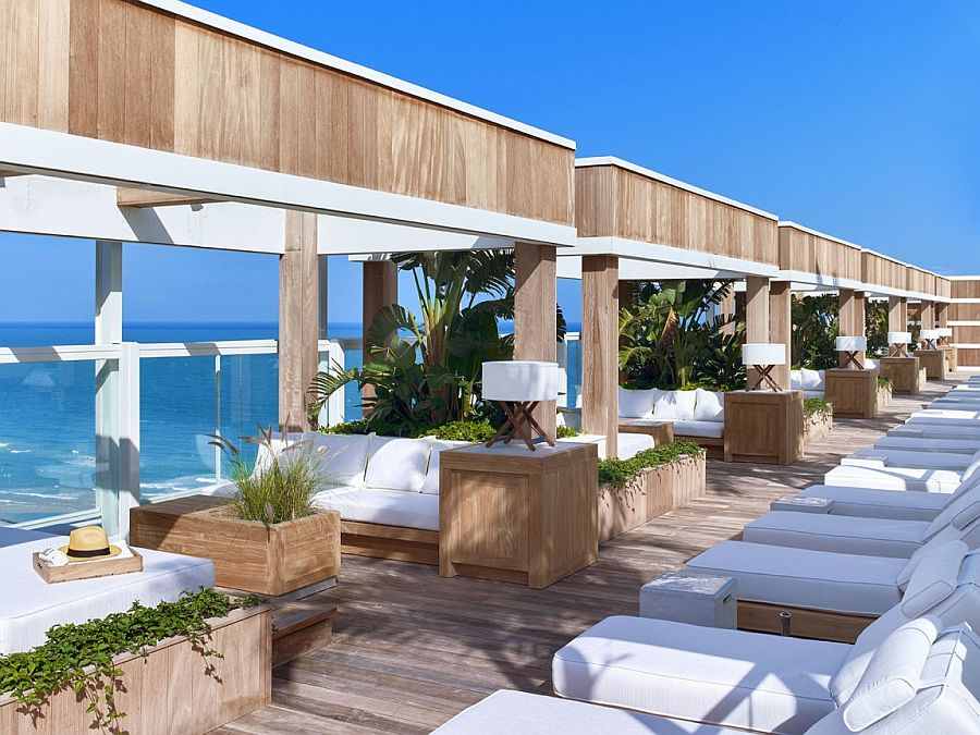 View In Gallery Relaxing Oceanfront Lounge Of The 1 Hotel South Beach