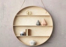 Round shelf from ferm LIVING 217x155 Geo Wall Shelf Designs