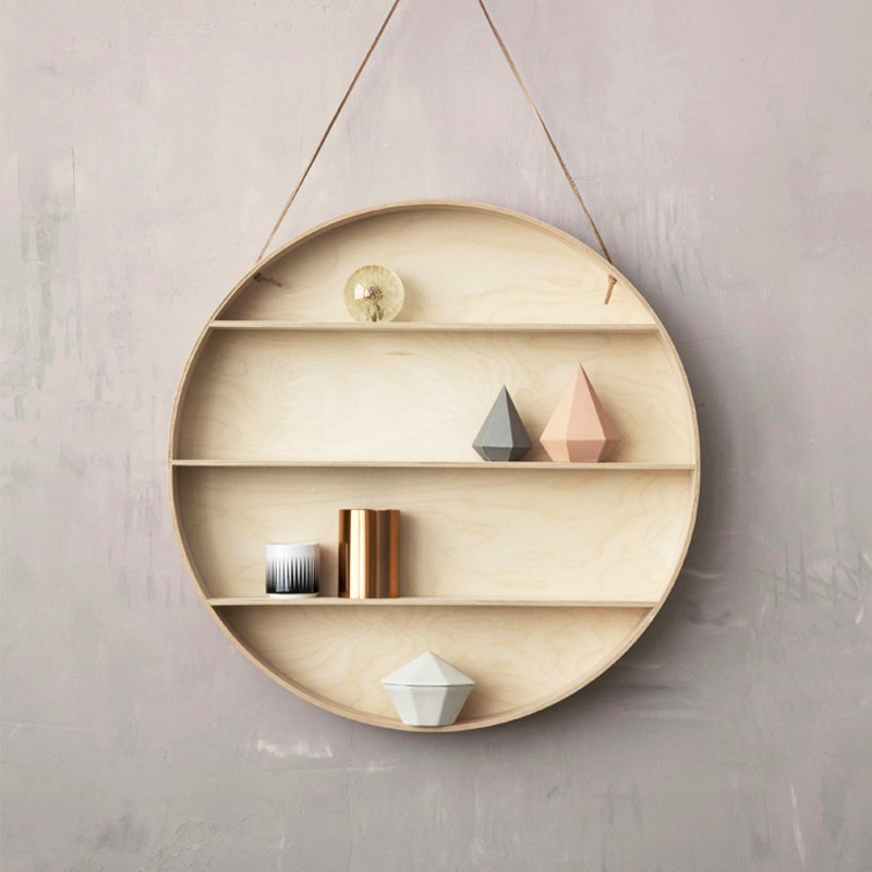 View In Gallery Round Shelf From Ferm LIVING