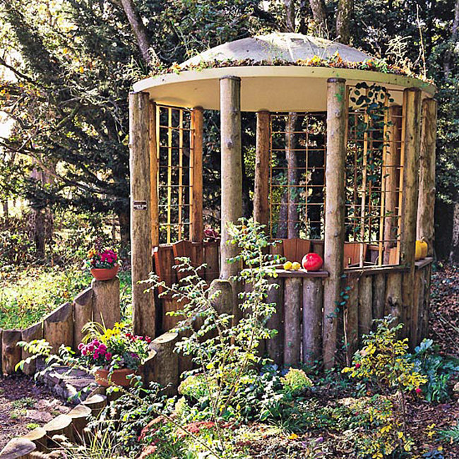Rustic gazebo idea