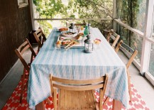 Screened-in porch for dining