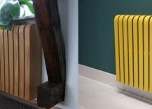 Sculptural laminate radiator covers