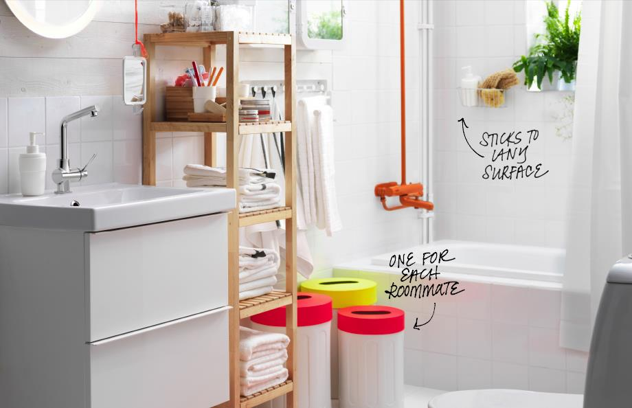 View In Gallery Shared Bathroom Solutions From Ikea