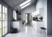 Skylights help create a fascinating kitchen [Design: Kvik Denmark]