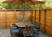 Slatted outdoor privacy fence 217x155 Modern Privacy Fence Ideas for Your Outdoor Space