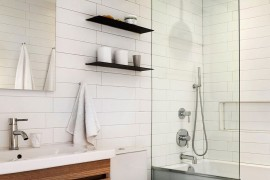 Renovated 1890s brooklyn home with brick walls by gradient for 1890 bathroom design