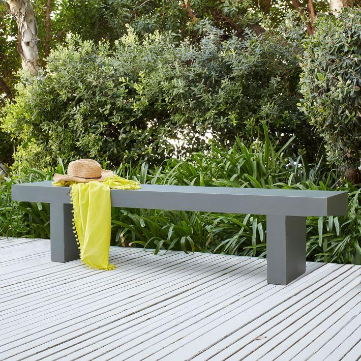 Sleek outdoor bench from West Elm