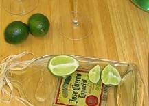 Slumped Tequila Bottle Serving Tray