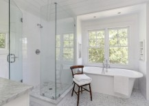 Sparkling clean bathroom 217x155 Shower Cleaning Tips for a Gleaming Powder Room