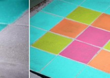 Stained concrete paver patio from Vintage Inspired Passionista