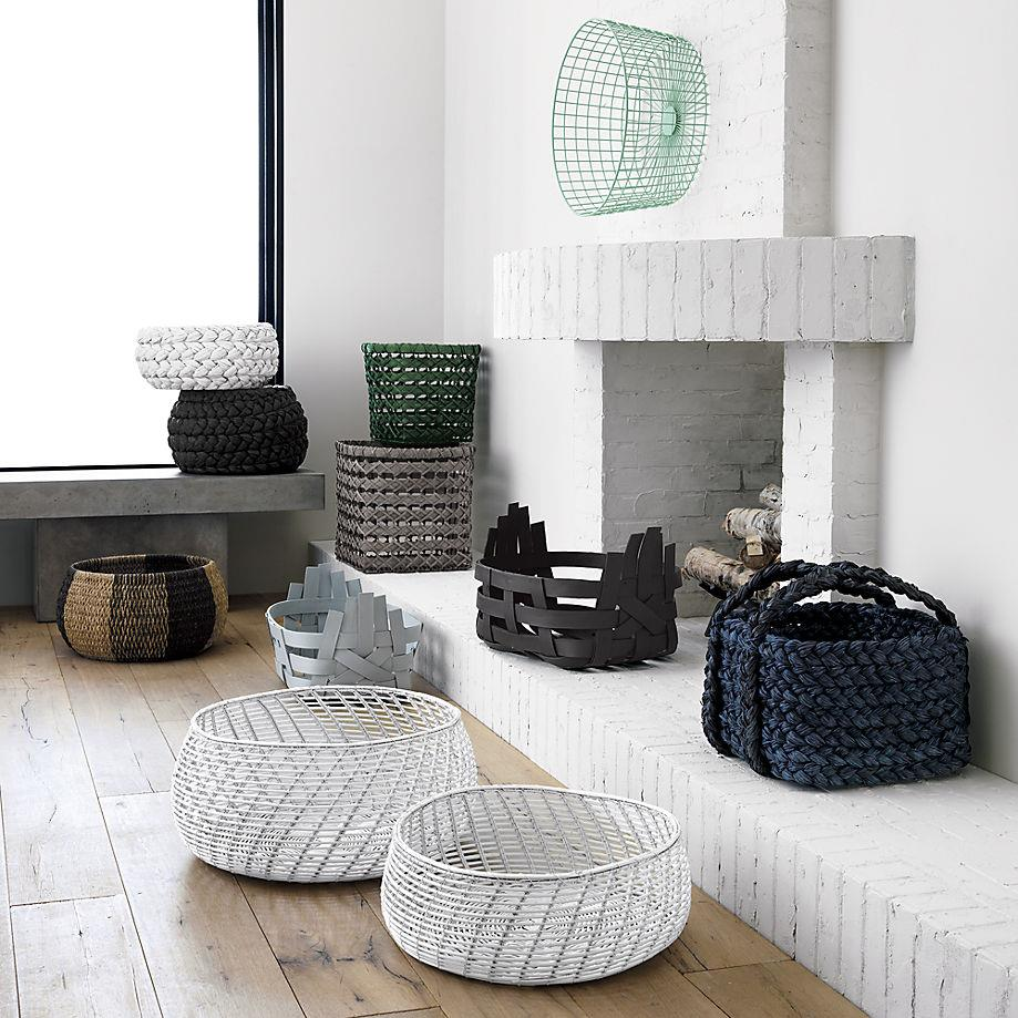 Storage baskets from CB2