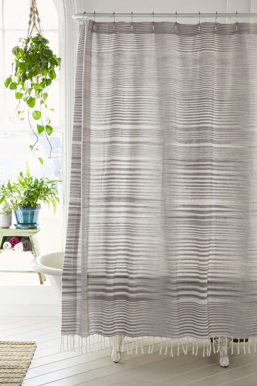 Striped Boho Modern Shower Curtain