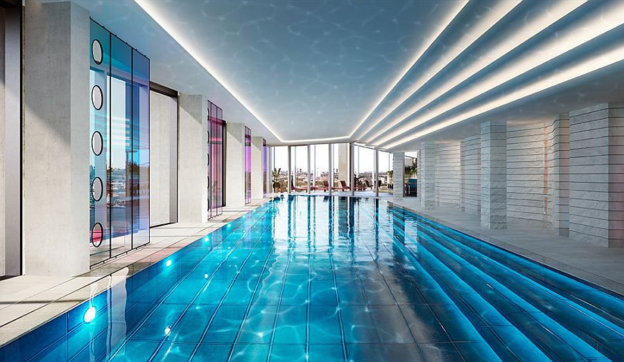 Contemporary tom dixon designed london apartments showcase - Apartments with swimming pool london ...