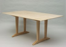 Tiger maple trestle table 217x155 Modern Trestle Tables for Your Interior