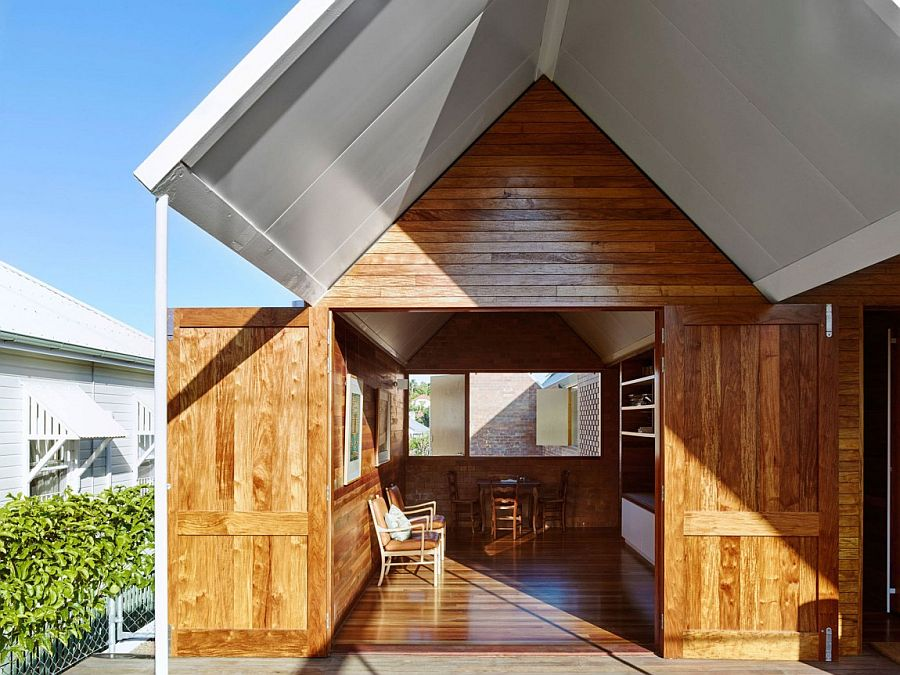 Timber used to shape the unique interior of the Aussie home