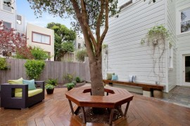 Tree bench on a wooden deck  Tree Bench Ideas for Added Outdoor Seating Tree bench on a wooden deck