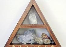 Triangle shelf from Etsy shop O + E Creations