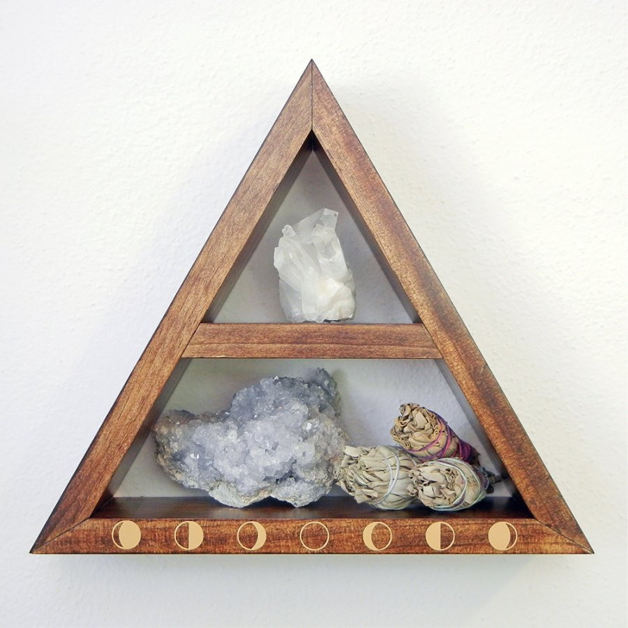 Triangle shelf from Etsy shop O + E Creations