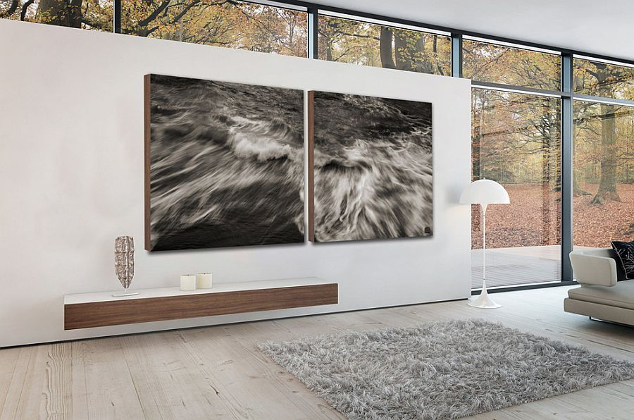 Turn to black and white wall art to create monochromatic magic