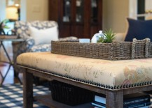Upholster your old coffee table to give it a new lease of life