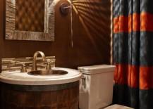 Vanity bathroom wine barrel 217x155 13 Crazy Creative DIY Bathroom Vanities