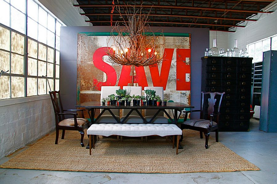 Vintage sign turned into wall art for those who love salvaged style [Design: Red – Modern Lines]