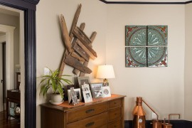 Wall art comes in varied shapes, forms and textures! [From: Danielle Sykes Photography]