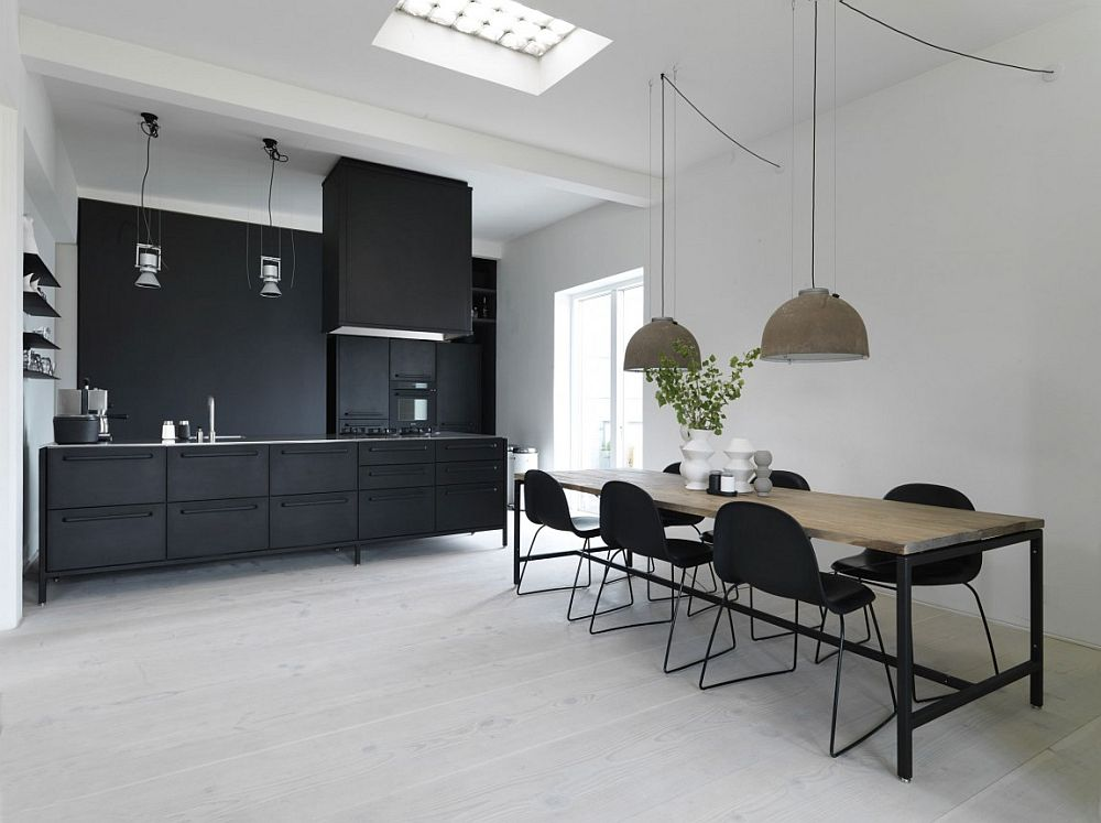 50 modern scandinavian kitchens that leave you spellbound for Black home design