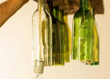 Wine Bottle Chandelier