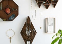 Wooden geo shelves from Urban Outfitters