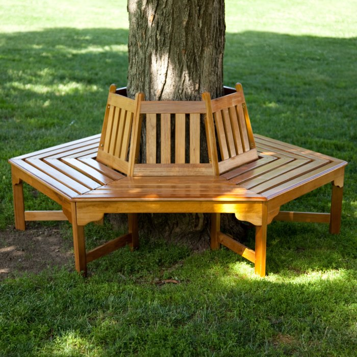 Wooden tree bench from Hayneedle