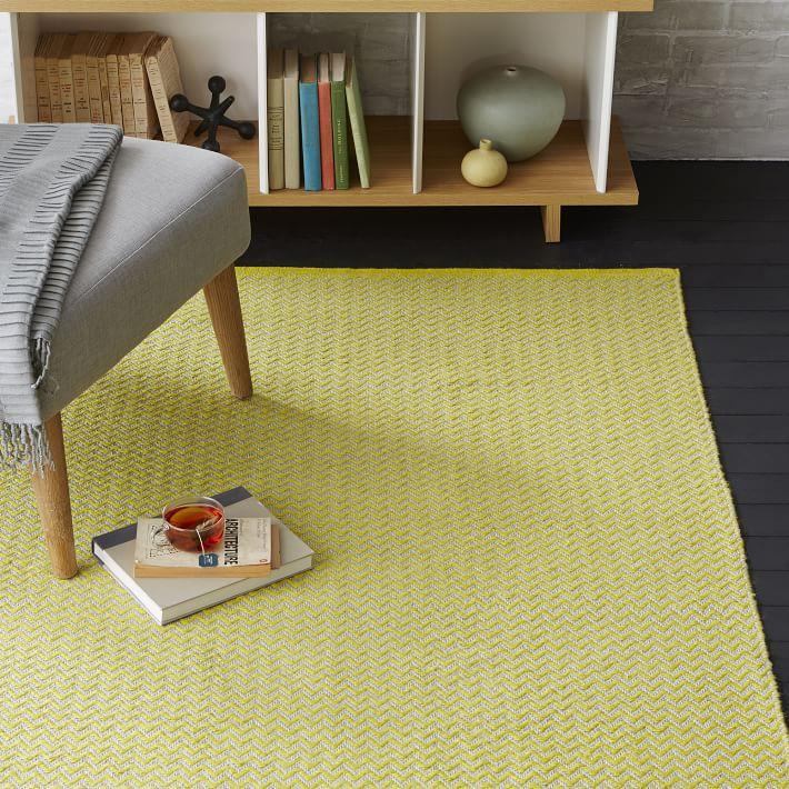 Yellow jute rug from West Elm