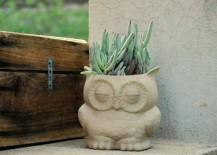 Wise owl planter
