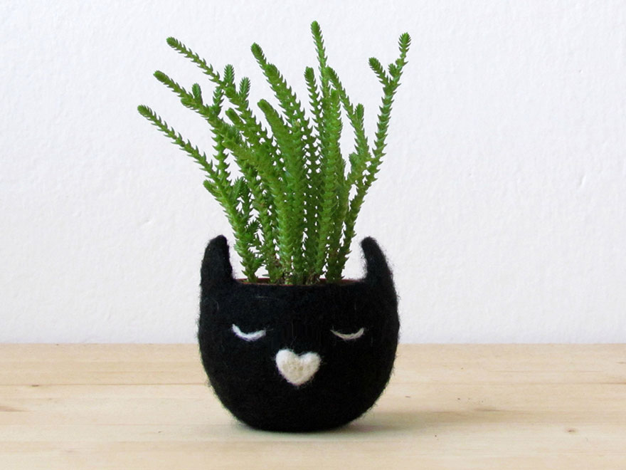 animal planter cat 15