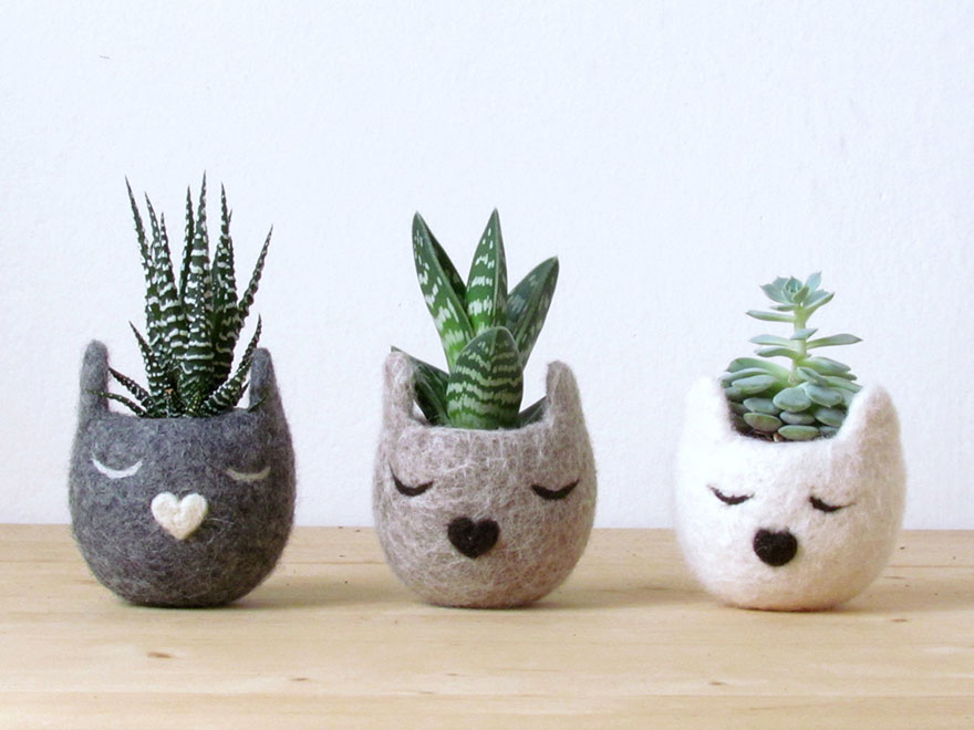 animal planter cats 13